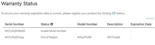 kiểm tra bảo hành ổ cứng WD
